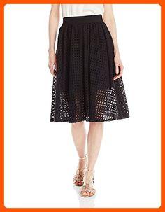 BCBGeneration Women's Mesh Midi Skirt, Black, Large - All about women (*Amazon Partner-Link)