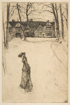 James McNeill Whistler (1834–1903). Speke Hall, No. 1 - 1870, Etching and drypoint,image: 8 7/8 x 5 7/8in. (22.5 x 14.9cm). The Metropolitan Museum of Art.