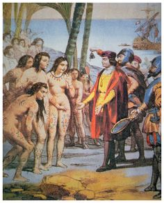 Arawak men and women, naked, tawny, and full of wonder, emerged from their villages onto the island's beaches and swam out to get a closer look at the strange big boat. When Columbus and his sailors came ashore, carrying swords, speaking oddly,...
