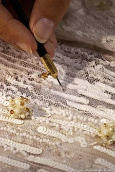 Learn how to embroider to fashion industry standard from experts who work for Chanel, Louis Vuitton and more at https://www.mastered.com/course-listings/3