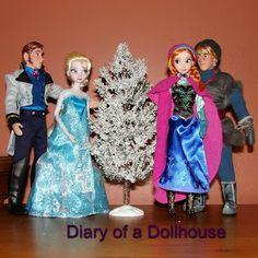 Dolls from the new Disney Frozen movie - Hans, Elsa, Anna, and Kristoff