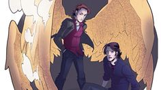 """Sabriel Fanart! -- """"If you set another finger on my Samsquatsh I will end you"""""""