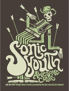 Furturtle Show Prints - SONIC YOUTH Awesome Color 2009 Twilight Concert Series Poster
