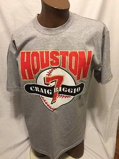 a9e3c369238 Vintage 2000 Craig Biggio Houston Astros Tshirt MLB HOF 3000 Hits Large  Baseball | eBay