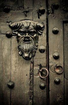 old door in cartagena, colombia