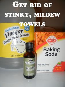 Get rid of stinky, mildew towels. I love this recipe! My towels are so soft and clean smelling! So glad I found this, I was just about to throw out all of my towels and buy new because no matter how many times I washed them, they still stunk! I gave this a try and voila! My towels smell fresh and clean!
