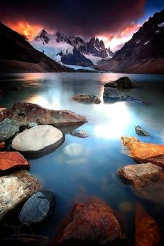 Laguna Torre with Cerro Torre in the background, Los Glaciares National Park,Patagonia, Argentina. Beautiful World, Beautiful Places, Beautiful Pictures, Beautiful Rocks, Places Around The World, Around The Worlds, Landscape Photography, Nature Photography, Photography Tricks