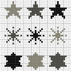 cross stitch  free chart download star | Cross-stitch Monochrome