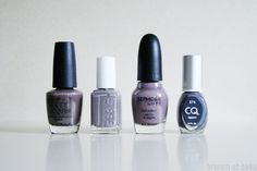 favorite gray nail polish colors - you don't know jacques! + chinchilly