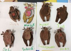 Y5, 6s, enjoyed this one. Reindeer ornament, 3d or not. Color with Oil pastels, cut, paste.