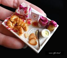 Where you will find a delightful selection of handmade scale miniature food and other special miniatures too! Miniature Crafts, Miniature Food, Miniature Dolls, Mini Things, Cute Little Things, Small Things, Tiny Food, Good Enough To Eat, Miniture Things