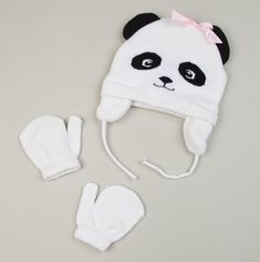 Panda Hat & Mittens