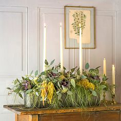Candle Centerpiece Trough in House + Home Vases + Accents at Terrain