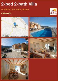 2-bed 2-bath Villa in Adsubia, Alicante, Spain ►€399,000 #PropertyForSaleInSpain