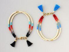 Multi Strand Bracelet Friendship Bracelet Cream por feltlikepaper