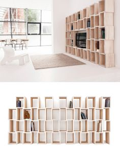 Reinier de Jong launches MODULAR shelves #bookcase #book #wood #interiors