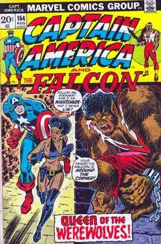 Captain America #164 Queen of the Werewolves Cover Art by John Romita Sr.