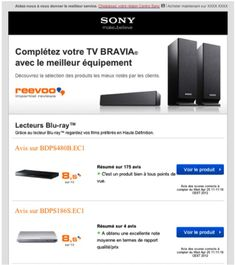 7feab41fbb9d Sony France integrates Reevoo ratings in its email campaigns