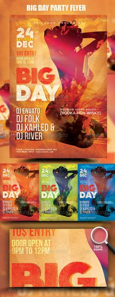 Big Day Party Flyer  #GraphicRiver