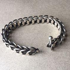 Hans Hansen Sterling Silver Modernist Bracelet, Handmade Sterling Silver - Gallery 925 #SterlingSilver