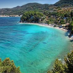Samos island, Greece. The water may be deceiving. It is cold! But not as cold as the Pacific Ocean.