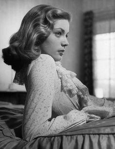 Lauren Bacall, 1940s.