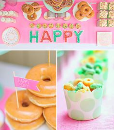 Mint & Peach Donut Party {Go Nuts!}