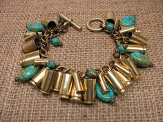 Bullet Casing Jewelry  Authentic Mixed Brass 9mm and by thekeyofa, $115.00