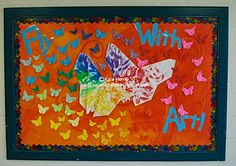 Fly with art!  This could also be done with paper cranes the students make.