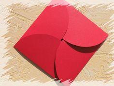 Geschenkverpackung rot Umschlag