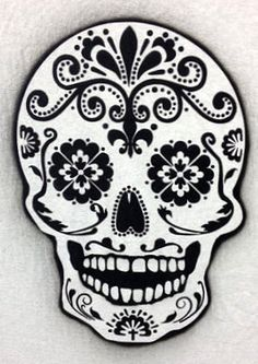 Day of the death sugar skull airbrush stencil by joannakrzepkowska, $18.00