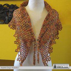 orgu tasarimlari3 Renkli ipten yapılmış bayan şalları