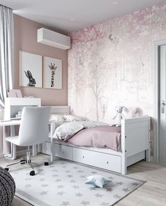 Snug teen girl bedrooms tips for a striking teen girl room feel, image example 4324574819 Small Girls Bedrooms, Bedroom Decor For Teen Girls, Girl Bedroom Designs, Small Room Bedroom, Trendy Bedroom, Small Rooms, Home Bedroom, Kids Bedroom, Diy Bedroom Decor