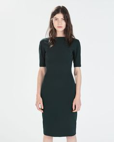 Need this green dress! LONG SHIFT DRESS from Zara