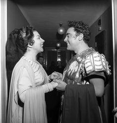 """Giulietta Simionato& Mario Del Monaco - """"Norma"""", 1955 http://www.archiviolascala.org/"""