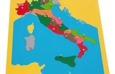 Incastro dell'Italia Montessori – presentazioni ed esercizi