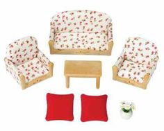 Red Floral Calico Corners Upholstery Fabric For Sofa Set