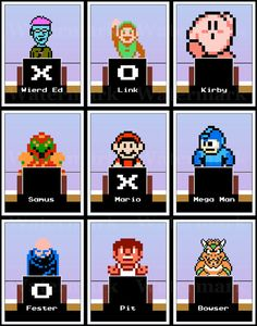 Video Game Art Print  NES Squares  Nintendo Tribute by arcadecache, $13.95