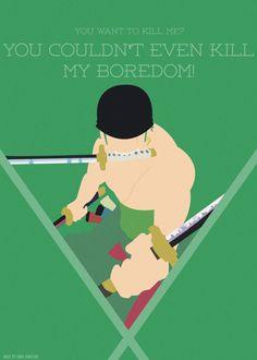 Badass! Zoro Minimalist Poster by AnnaHiwatari