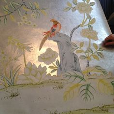 Meredith Heron Design  Griffin & Wong  Chinoiserie  Wallpaper  Handpainted Wallpaper