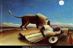 Sleeping Gypsy - Henri Julien  Rousseau - www.henrirousseau.org
