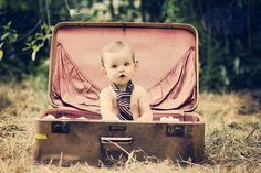 baby in suitcase #babyphotography #babyphotos