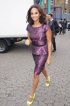 Alesha Dixon Print Dress