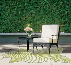 Hand-Woven Green Outdoor Area Rug