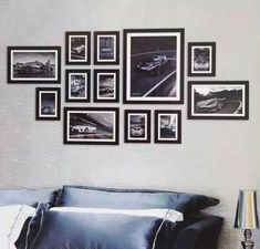 42 Photo Collage Frames On Wall Wall Collage Picture Frames, Multi Picture Photo Frames, Frames On Wall, Picture Wall, White Frames, Wall Frame Arrangements, Wall Frame Set, Cool Walls, Wall Design