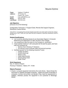 resume outline template