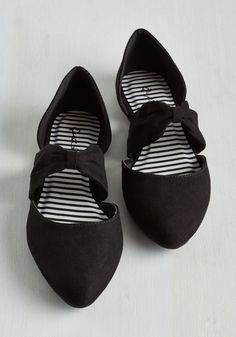 Three Strides and You're Haute Flat in Black - Black, Solid, Casual, Good, Variation, Flat, Faux Leather