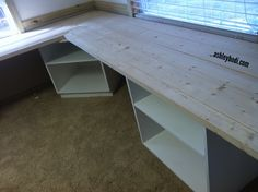 L-shaped desk for a studio or any small business office. I need measurements! L Shaped Office Desk, L Shaped Desk, Office Workspace, Office Spaces, Diy Computer Desk, Diy Desk, Gaming Computer, Building Furniture, Home Office Furniture