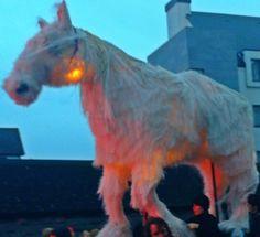 Galway Macnas Parade 2013 Samhain, Goats, Horses, Animals, Animales, Animaux, Animal, Animais, Horse