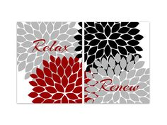 bathroom wall art flower burst art print relax by